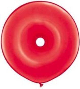 "16""Q Geo Donut Red(25 count)"