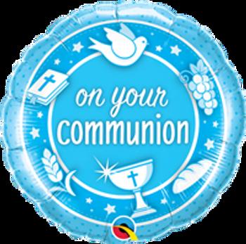 "18""Q Communion On Your, Blue(10 count)"