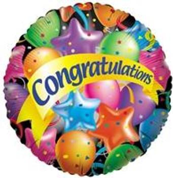 "18"" Congratulations, Festive Balloons"