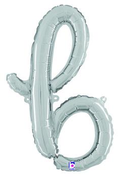 Script Silver Letter B (1 count)