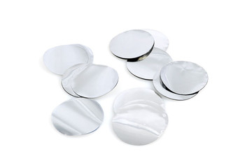 """Confetti Circles, Mylar Silver 1""""(1 count)"""