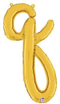 Script Gold Letter Q (1 count)