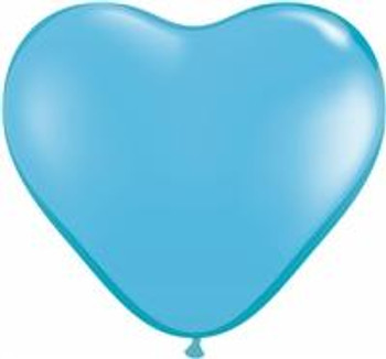 "6""Q Heart Pale Blue (100 count)"