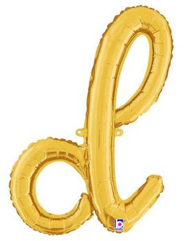 Script Gold Letter D (1 count)