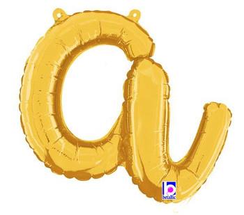 Script Gold Letter A (1 count)