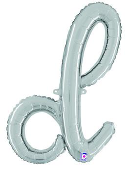 Script Silver Letter D (1 count)