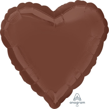 "18""A Heart Chocolate Brown (10 count)"