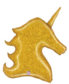 "38""B Gold Glitter Unicorn (1 count)"
