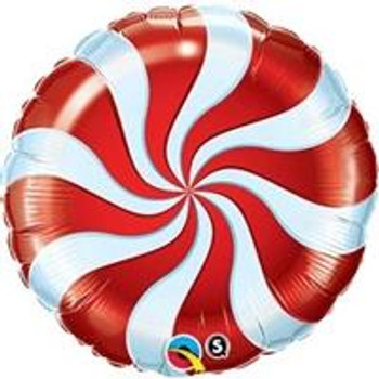 "9""Q Candy Swirl Red (10 count)"