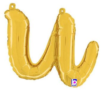 Script Gold Letter U (1 count)