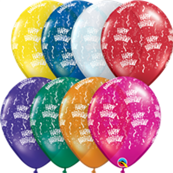 "11""Q Assorted, Happy Birthday Jewel Print (50 count)"