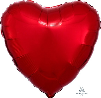 "18""A Heart, Red (10 count)"