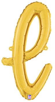 Script Gold Letter L (1 count)