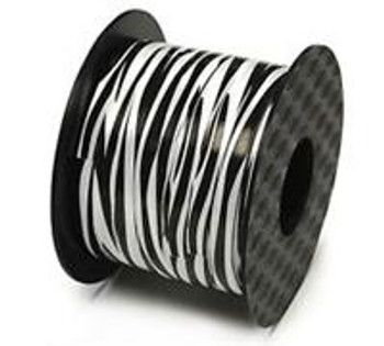 "Ribbon, 1/4"" Curling Zebra Print"