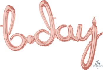 "37""A Script Bday Rose Gold (1 count)"