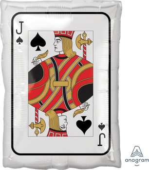"17""A Playing Card Jack of Spades / Queen of Diamonds Roll The Dice (5 count)"