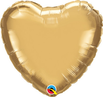 "18""Q Heart Chrome Gold (10 count)"