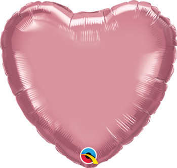 "18""Q Heart Chrome Mauve (10 count)"