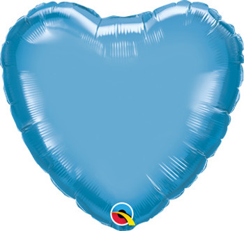 "18""Q Heart Chrome Blue (10 count)"