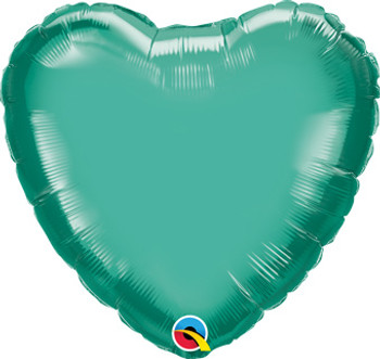 "18""Q Heart Chrome Green (10 count)"