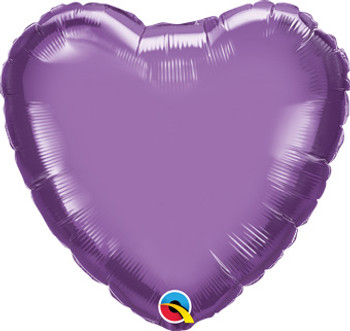 "18""Q Heart Chrome Purple (10 count)"