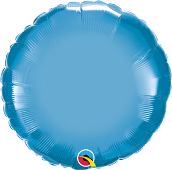 "18""Q Circle/ Round Chrome Blue (10 count)"
