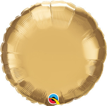 "18""Q Circle/ Round Chrome Gold (10 count)"