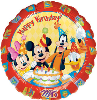 "18""A Happy Birthday Mickey Mouse & Friends(10 count)"