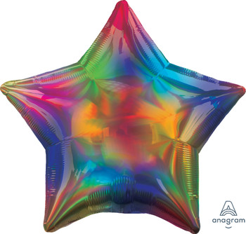 "19""A Star, Iridescent Rainbow(5 count)"