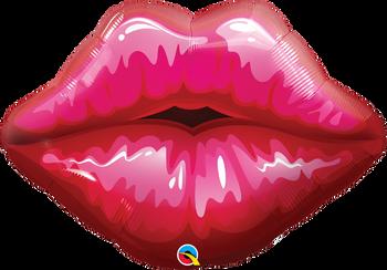 "30""Q Lips Big Red Kissy (5 count)"