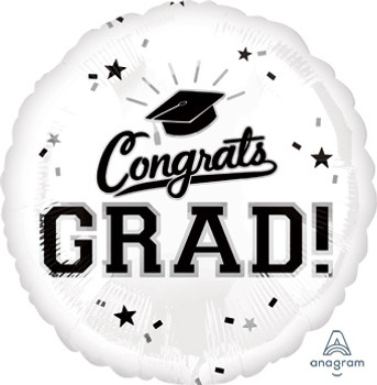 "18""A Congrats Grad White (10 count)"