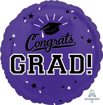 """18""""A Congrats Grad Purple (10 count)"""