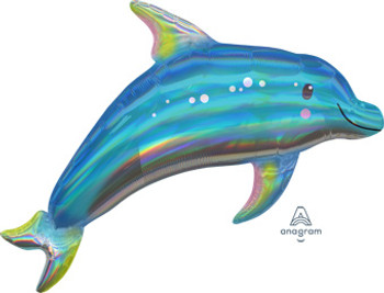 "27""A Iridescent Blue Dolphin Holo (1 count)"