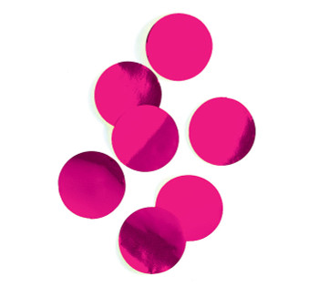 "Confetti Circles , Mylar Hot Pink 1""(1 count)"