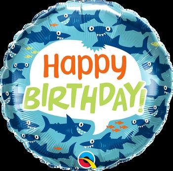 "18"" Q Birthday Fun Sharks (5 count)"