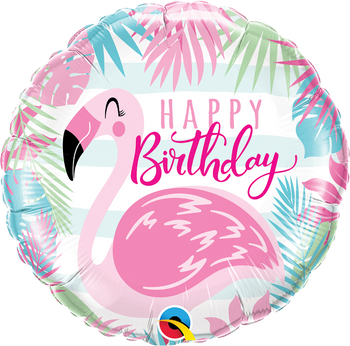 "18""Q Happy Birthday, Flamingo (5 count)"