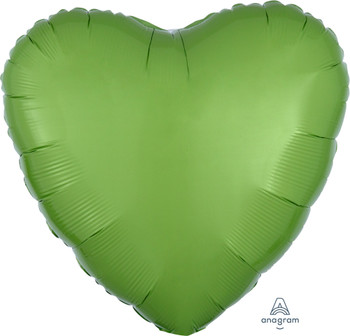 "18""A Heart, Kiwi Green(10 count)"
