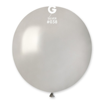 "19""G Metallic Silver #038(25 count)"