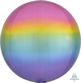"""16""""A Orbz, Ombre Pastel Rainbow (3 count)"""