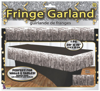 "Fringe Garland 20' x 15"" Silver (1 count)"