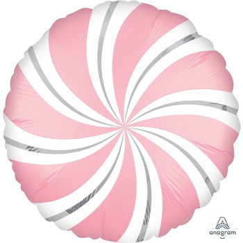 "18""A Candy Swirl,  Satin Pink Bubble Gum (5 count)"