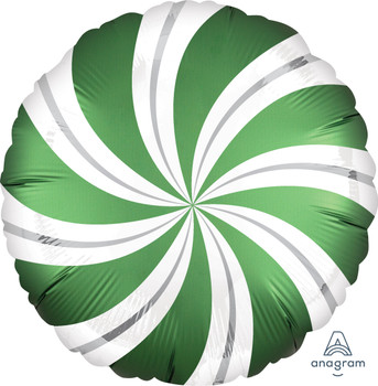 "18""A Candy Swirl  Satin Emerald Green (5 count)"
