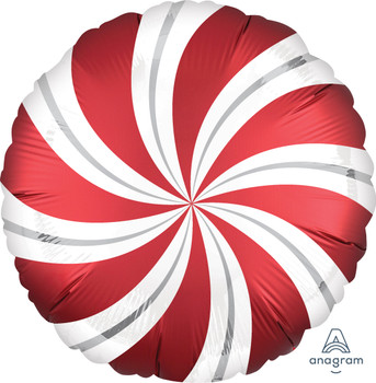 "18""A Candy Swirl,  Satin Red Sangria(5 count)"