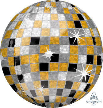 "16""A Orbz Disco Ball Gold/Silver/Black(1 count)"