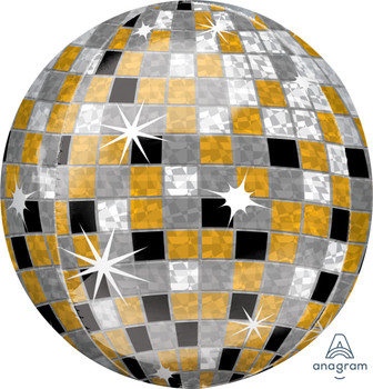 "16""A Disco Ball Gold/Silver/Black Orbz Pkg (1 count)"