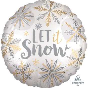 "18""A Let It Snow Shining Satin (10 count)"