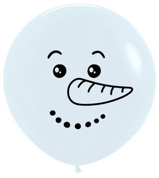 "24""B Snowman Face Print (5 count)"