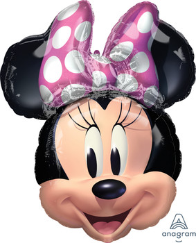"""25""""A Minnie Mouse Forever Head (5 count)"""