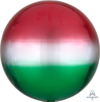 """16""""A Orbz, Ombre Red & Green (3 count)"""