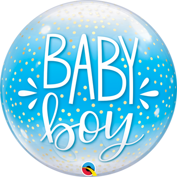 "22""Q Bubble, Baby Boy & Confetti(1 count)"